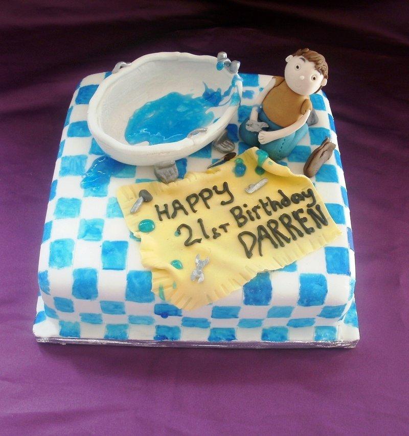 Plumber birthday cake - 565 x 699 png 47kB