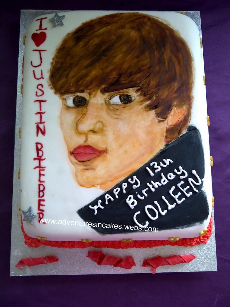 Pleasing Justin Bieber Cake Funny Birthday Cards Online Elaedamsfinfo