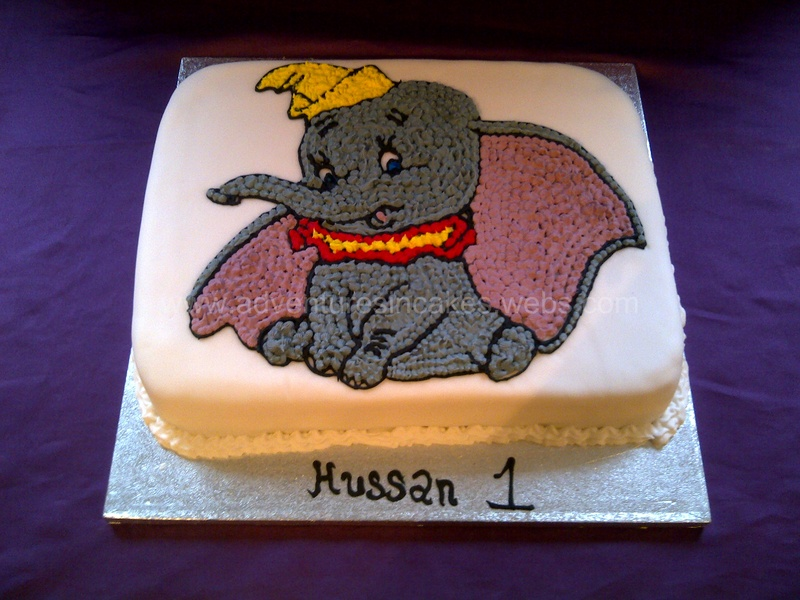 Dumbo Birthday Cake