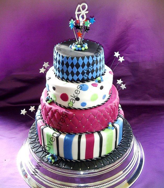 Cake Images For Bhabhi : 4 tier 18th birthday cake