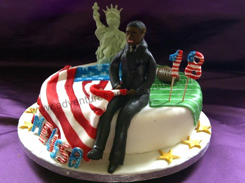 American Themed 18th Birthday Cake