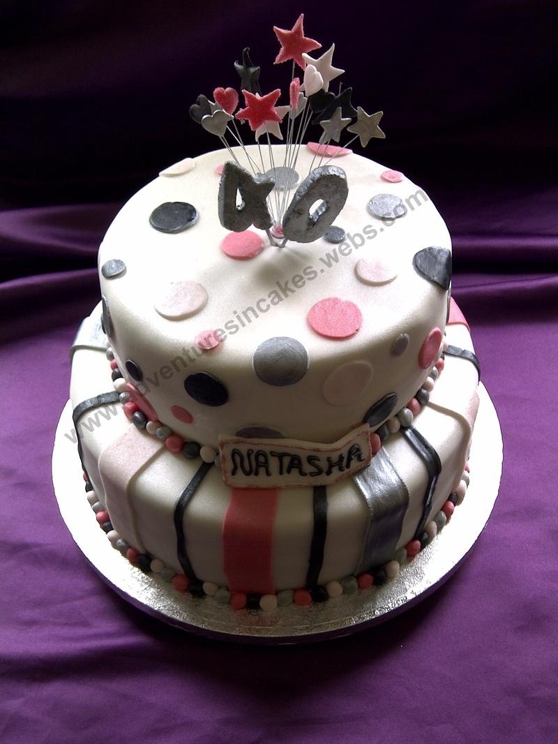 2 Tier 40th Birthday Cake