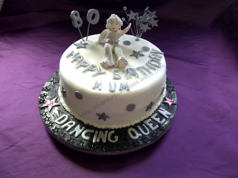 Superb Dancing Queen Cake Personalised Birthday Cards Cominlily Jamesorg