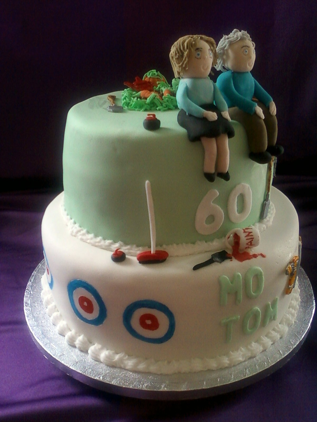 Joint Birthday Cake Images : Joint 60th