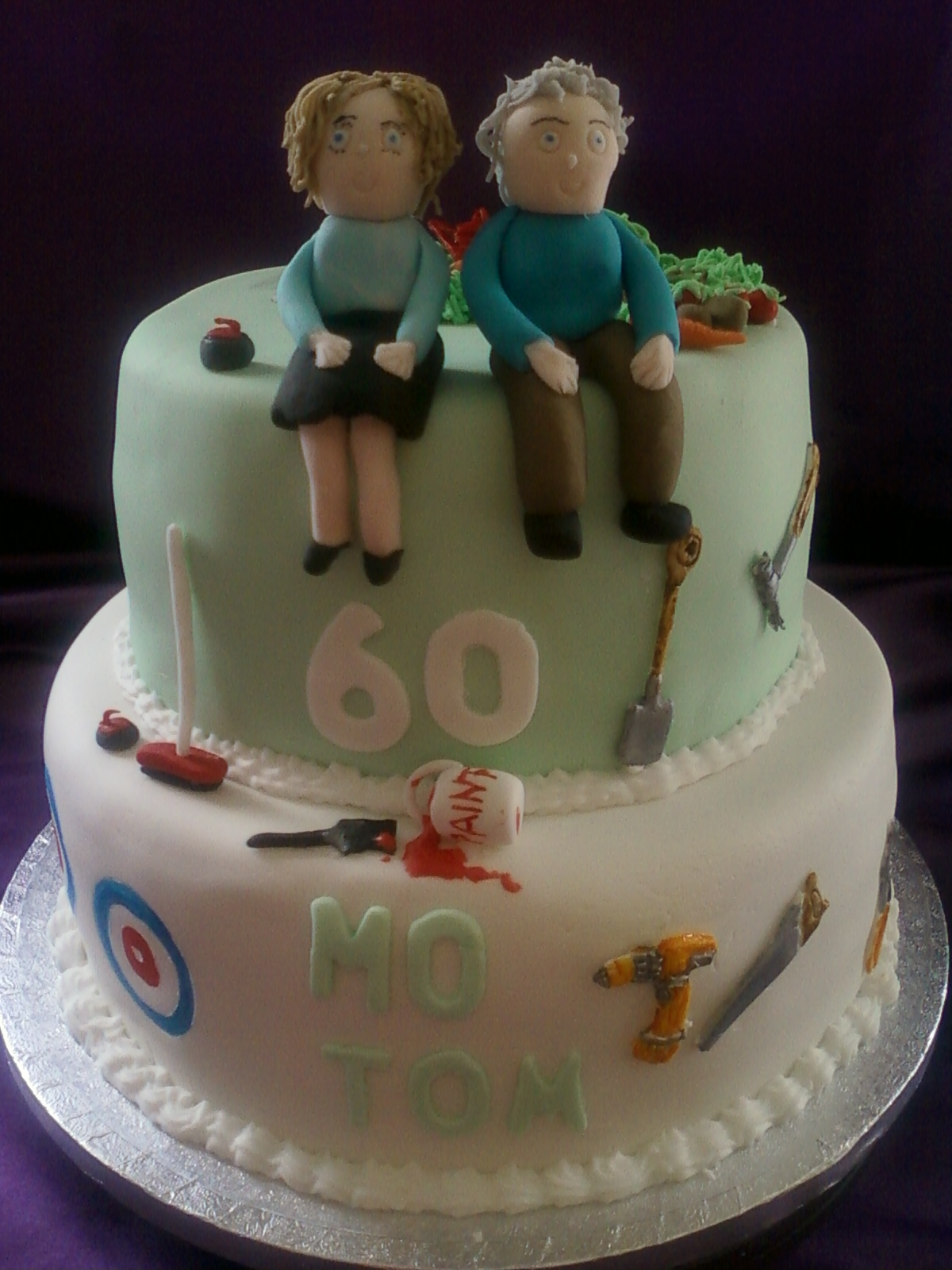 Joint 60th 2tier Cake Gluten Free Birthday