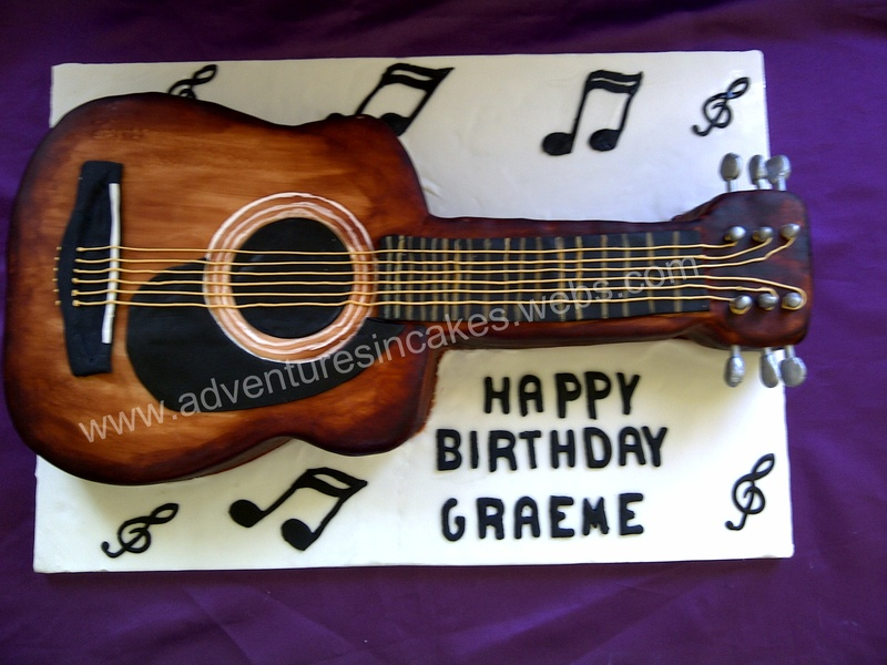 Acoustic Guitar Birthday Cake