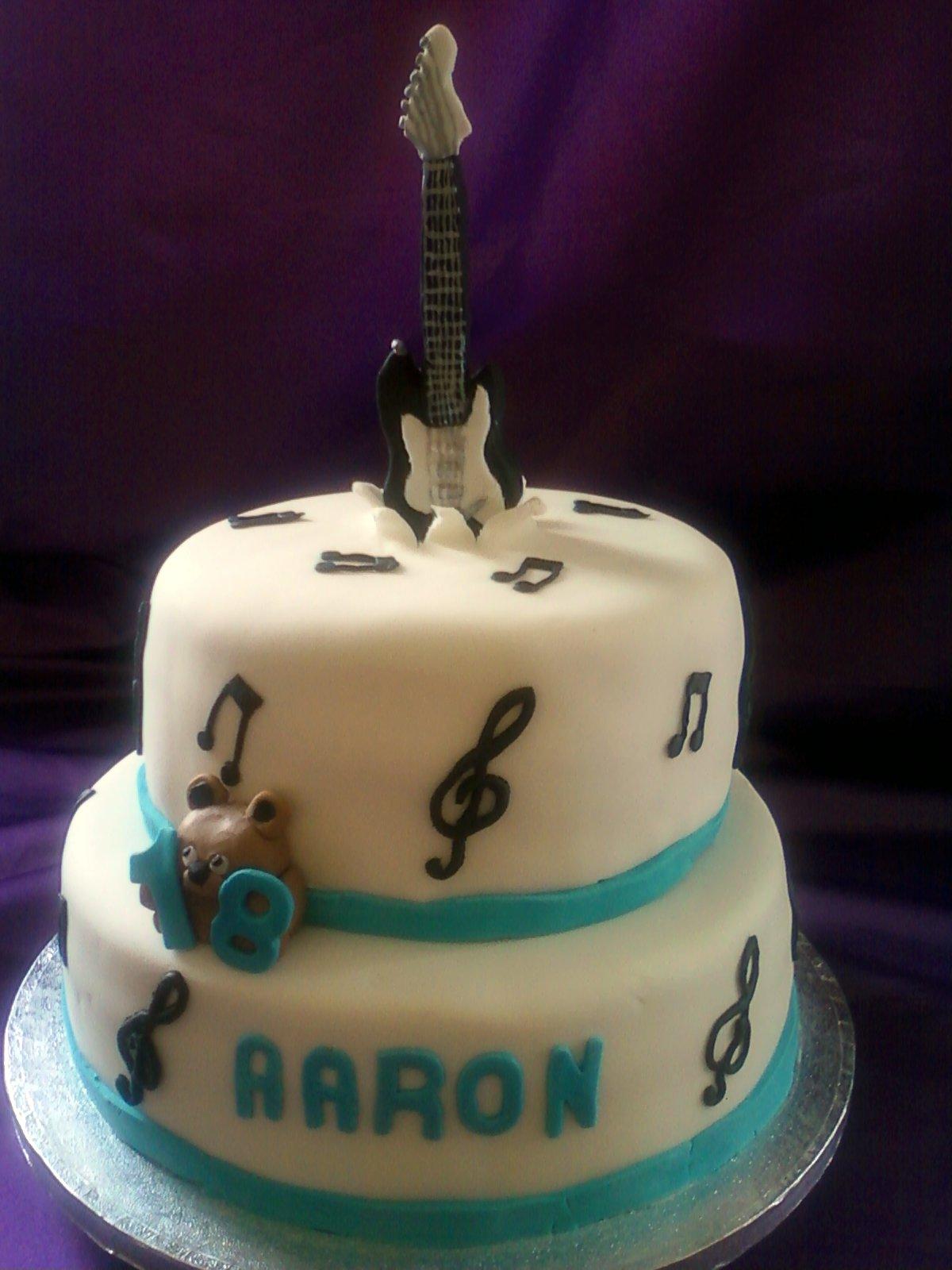Guitar Birthday Cake 2 Tier