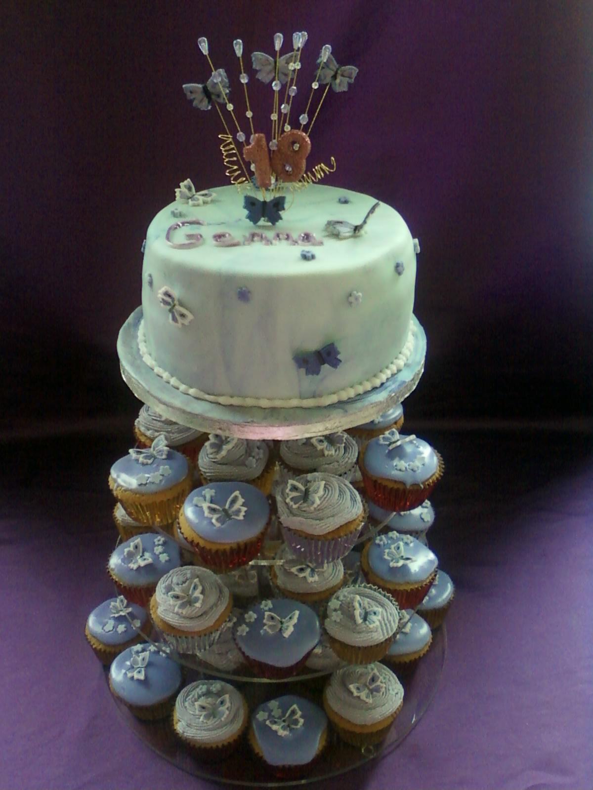 Phenomenal 18Th Birthday Cake With Cupcakes Personalised Birthday Cards Xaembasilily Jamesorg