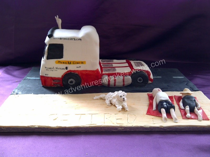 Lorry retirement Cake