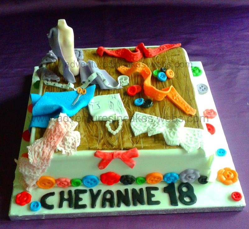 Fashion And Design Birthday Cake